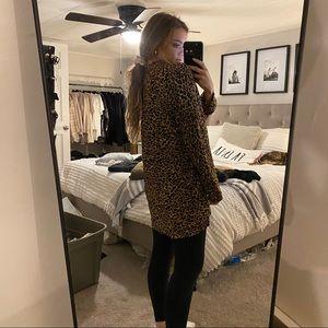 Leopard button up